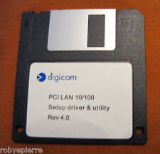 Vendo vintage FLOPPY disk DIGICOM PCI LAN 10/100 SET UP DRIVER AND UTILITY