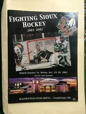 UND Fighting Sioux Hockey History Program Book 64 Pages Maine Oct 19-20 2001