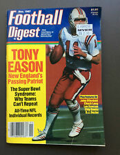 NFL FOOTBALL DIGEST Magazine Tony Eason Cover November 1987 Chuck Long Rare
