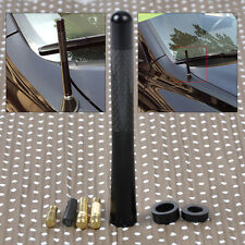 "4.7"" Universal Aluminum Carbon Fiber Aerial Antenna Car AM/FM Radio w/Screw"
