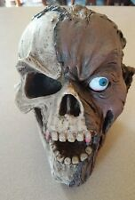 Zombie Head skull  7 Inches Halloween movie Prop ,Haunted House Decoration
