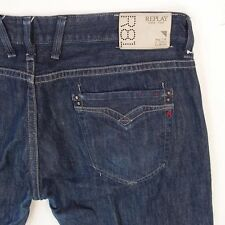 Mens Replay M955 BILLSTRONG Bootcut Relaxed Fit Blue Jeans W40 L34