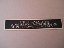 Joe Flacco Ravens Nameplate for a Football Jersey Display Case 1.5 X 8