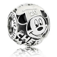Authentic Pandora 791802ENMX Disney Chef Mickey Mouse Enamel Charm Bag Included