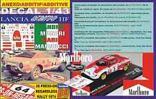 ANEXO DECAL 1/43 LANCIA STRATOS S. MUNARI PRESS-ON-REGARDLESS R. 1974 DnF (01)