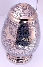 Adult Cremation Urn for ashes, Memorial Funeral Large Urn, Egg shape Butterfly