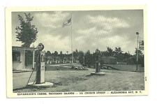 Unused Postcard 1930s Real Photo Mobile Station and Cabin Thousand Islands