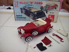 RARE Beautiful Vintage AMT 1932 Ford Sport Roadster 3 in 1 Model Car Kit Parts