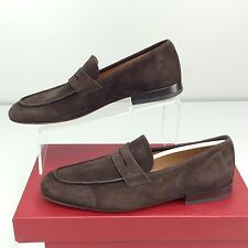 Salvatore Ferragamo Naples Penny Suede loafers size 7.5 D New Chocolate Brown