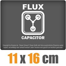 Flux Capacitor 11 x 16 cm JDM Decal Sticker Aufkleber Racing Die Cut