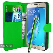 Green Wallet Case PU Leather Book Cover For Samsung Galaxy J5 2016 J510 Mobile