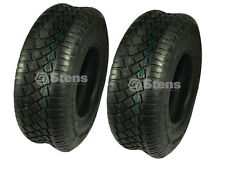 160-505 (2) 15 x 6.00 -6 TURF TIRES 4 Ply Tubeless Lawn Mower Garden Tract