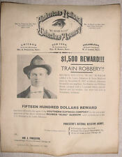 """Reuben """"Rube"""" Burrow Wanted Poster, Pinkerton, old west,outlaw, western, Burrows"""
