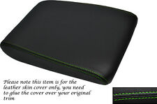 GREEN STITCHING  LEATHER ARMREST SKIN COVER FITS AUDI A8 D3 2002-2010