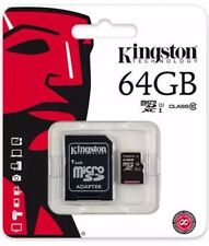 Kingston 64Gb Micro SDHC Memory Card Class 10 45mb/second with  SD Card Adopter