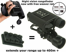 Night Vision Infrared Digital Laser Rangefinder (+weaver mount to extend range)