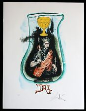SALVADOR DALI lithographie TAROT serie  HAND SIGNIERT ARCHES PAPIER