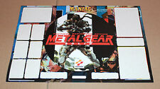 Metal Gear Solid MGS Sticker set for the Old big Playstation 1 PS1 very rare