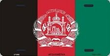 "Aluminum National Flag Afghanistan ""License Plate"" NEW"