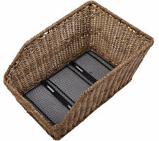 BEAUTIFUL WICKER STYLE BIKE BASKET REAR FIXED MOUNT CARRIER FIT 44 x 31 x 20 cm