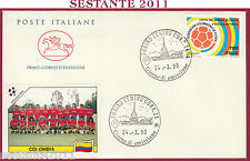 ITALIA FDC CAVALLINO COLOMBIA COPPA MONDO ITALIA '90 MONDIALI 1990 TORINO T203