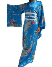 Hot Vintage Japanese Kimono Costume Geisha Dress Obi Gown Robe