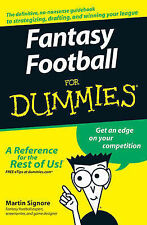 Fantasy Football For Dummies by Martin Signore (Paperback, 2007)