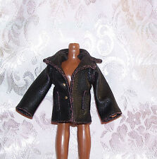 New MGA FAUX LEATHER COLORED STITCH COAT JACKET FITS BOY MALE MONSTER HIGH DOLLS