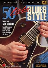 50 Licks Blues Style Instructional Guitar  DVD NEW 000320377