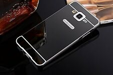 Metal Bumper Acrylic Mirror Back Case Cover For Samsung Galaxy Grand 2 G7106