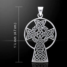 Celtic Knotwork St. Andrews Cross .925 Sterling Silver Pendant Peter Stone