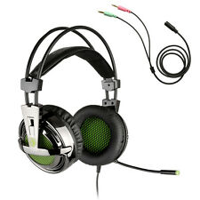 Gaming Headset Stereo Lightweight Headphones 3.5mm Jack with Mic for Laptop PC