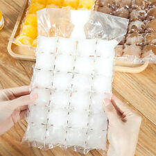 10Pcs Useful Disposable Ice Cube Mold Bag Frozen Liquid Each Bag For 24 Grid