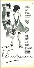 PUBLICITE ADVERTISING 124  1963  L'EMPEREUR  bas & collants LILION
