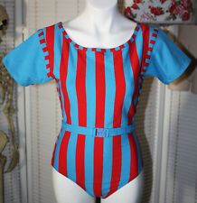VINTAGE 80'S AEROBIC WORKOUT SUIT LEOTARD HALLOWEEN COSTUME