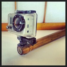 "36"" Bamboo gopro pole mount hero 3 2 1 tripod boom 3' foot"