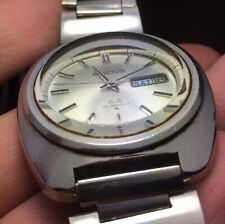 Seiko 5 Actus SS 6106-7440 Tons Of Distortion Vintage Tall Crystal 1970 Auto