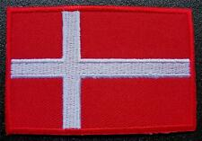 "DENMARK, Danish National FLAG, Sew / Glue on Cloth BADGE, Patch, Size 2.75"" x 2"""