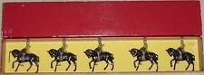 Old JOHILLCO Lead, Crusader Knights Mounted, 5 Pc. Boxed Set, c.1950s Britains
