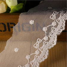1 Yard Cotton Lace Trimming Applique Bowknot Embroidered Wedding Sewing Craft
