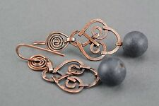 Earrings With Shungite Ancient Look Accessories Elegant Earrings For Girls