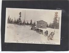 Two 1910 Alaska Photos Dog Sled Team at Kiana & Two campers at Noonik