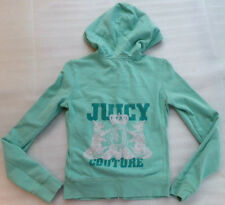 JUICY COUTURE Crown Scottie Dogs Crest Sweatshirt Hoodie Track Jacket Size Small