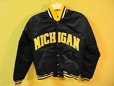 Rare Vintage STARTER NCAA Michigan Wolverines Satin Jacket Coat Size Adult Small