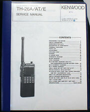 ORIGINAL KENWOOD TH-26A PAPER SERVICE MANUAL NO STINKING PDF/CD EXC