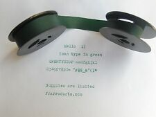 Hermes Baby 1000 Green Ink Typewriter Ribbon + Free Shipping
