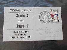 The 1969 F.L.Cup Final First Day Cover Between Swindon & Arsenal-England Winners