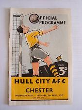 Hull City v Chester 1948/1949 - Football Programme