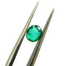 0.25 Ct Natural Green Emerald Loose Gemstone Colombian Oval Setting Stone - 5336