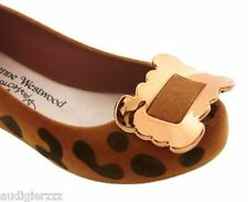 Melissa + Vivienne Westwood Anglomania Brown Ultragirl Buckle Ballet Flats US 7